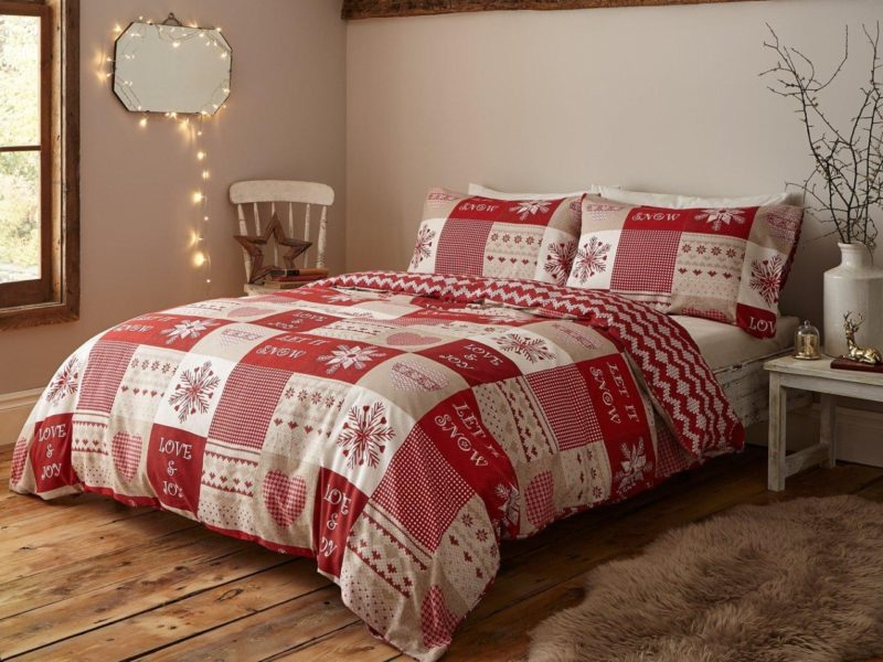 Nordic-style Christmas duvet set