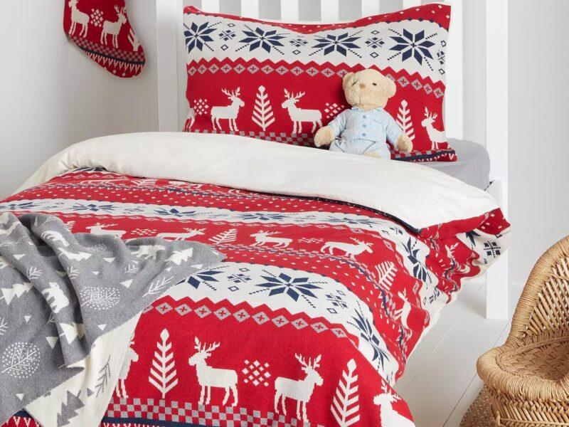 Nordic style Christmas bedding set