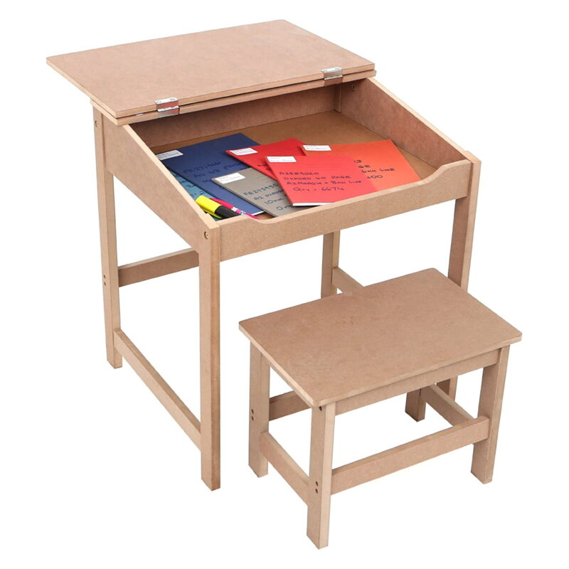 School style desk with bench