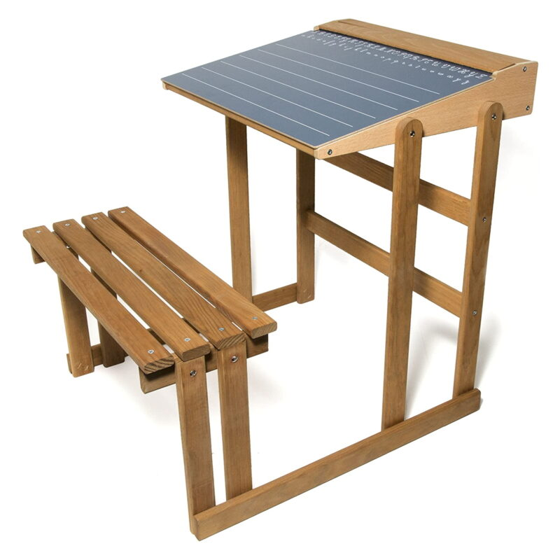 All-in-one desk with bench