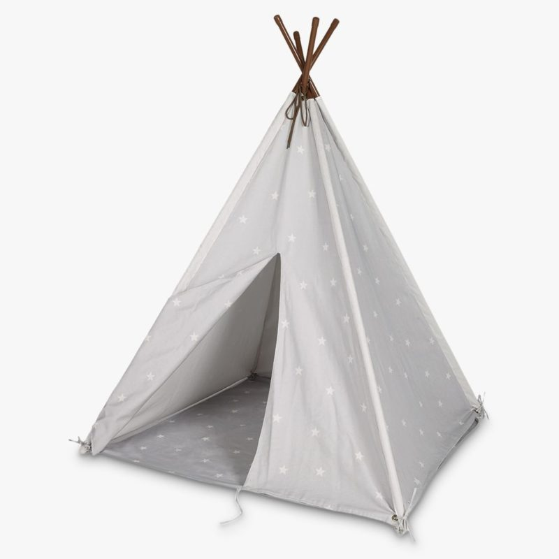 Grey teepee with white star print