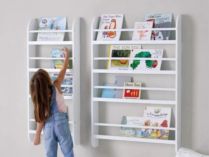 Wall-mounted gallery bookcases
