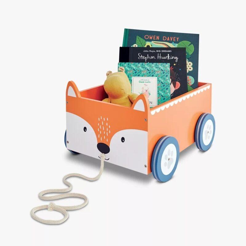 Fox themed book cart