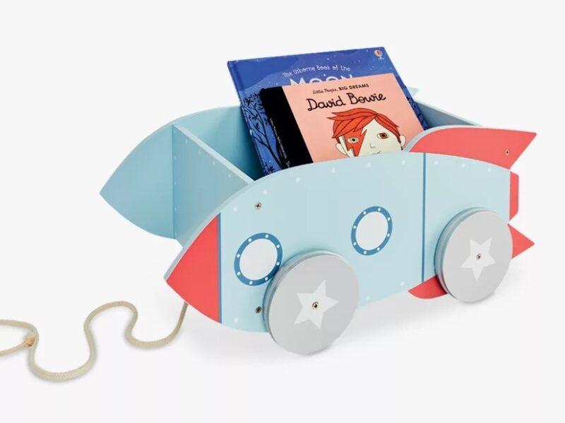 Rocket themed book cart