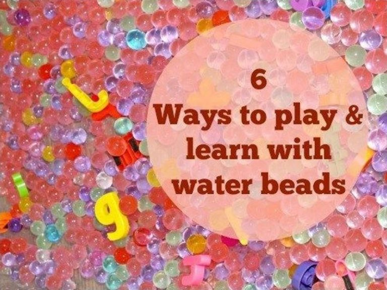 6 ways to play & learn with water beads