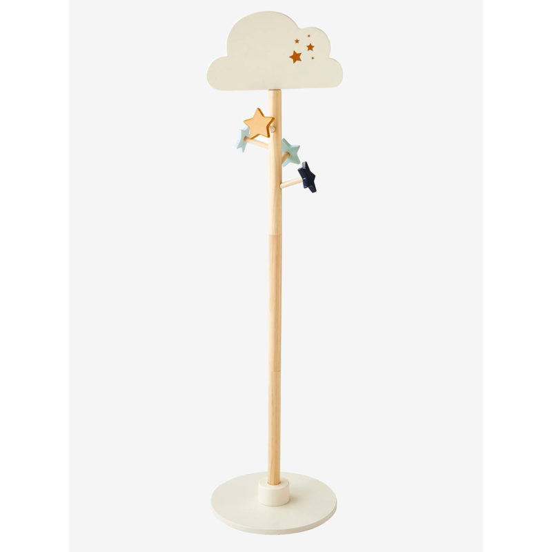 Kid's coat stand with cloud top