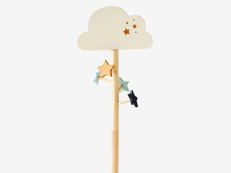 Cloud-themed coat stand