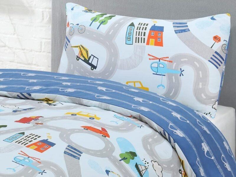 Transport themed kid's bedding set