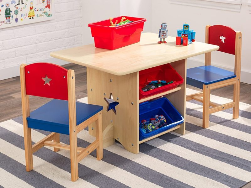 Children's storage play table