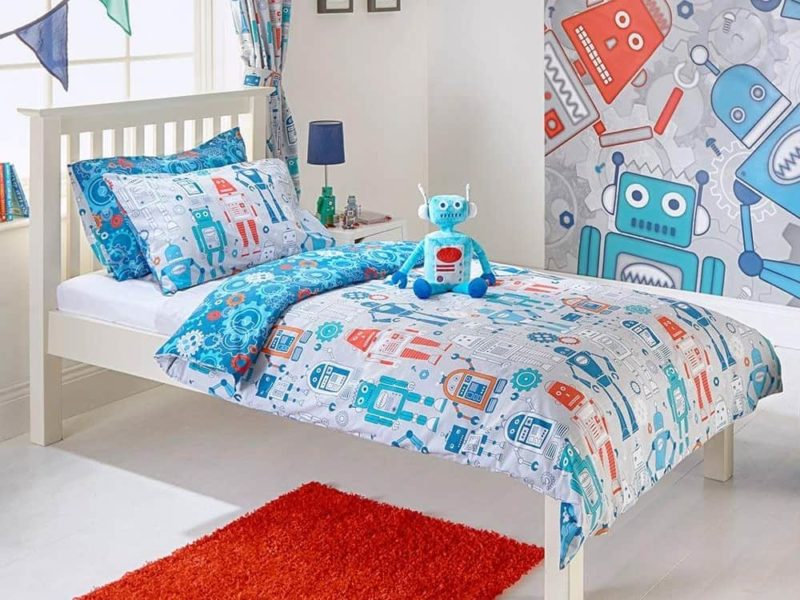 Robot print bedding set