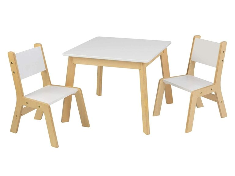 White table and 2 chairs