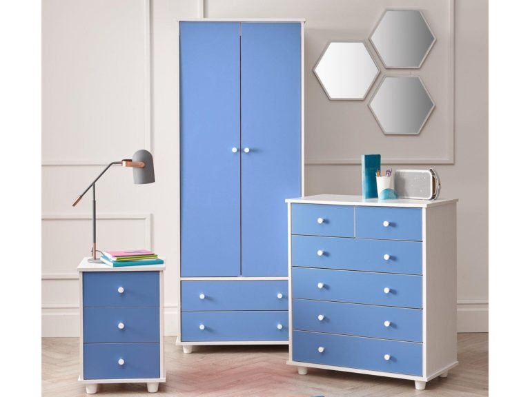 Blue and white children's furniture