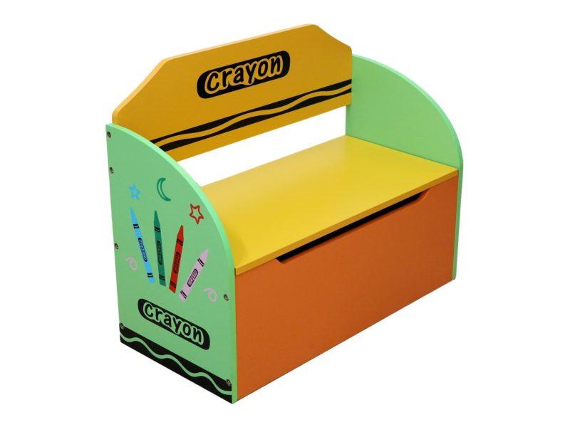 Multi-coloured storage bench