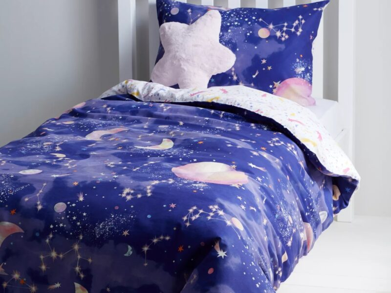 Stars and moon themed bedding