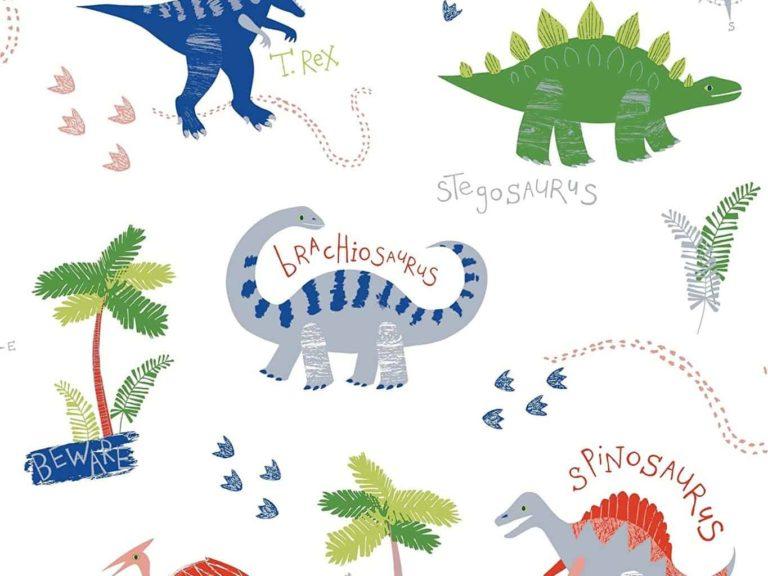 Dinosaur themed wallpaper