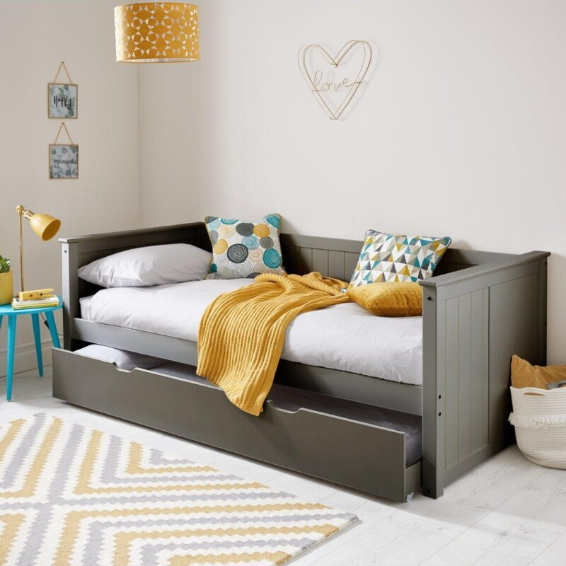 Grey-painted day bed