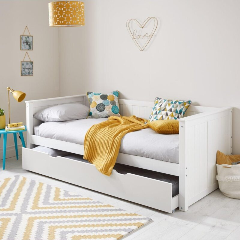 White-painted daybed