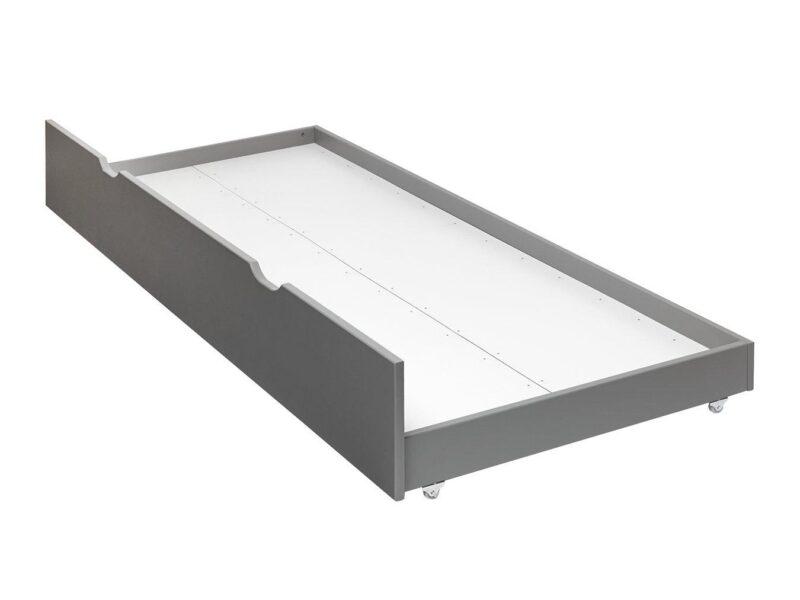 Grey-painted trundle base