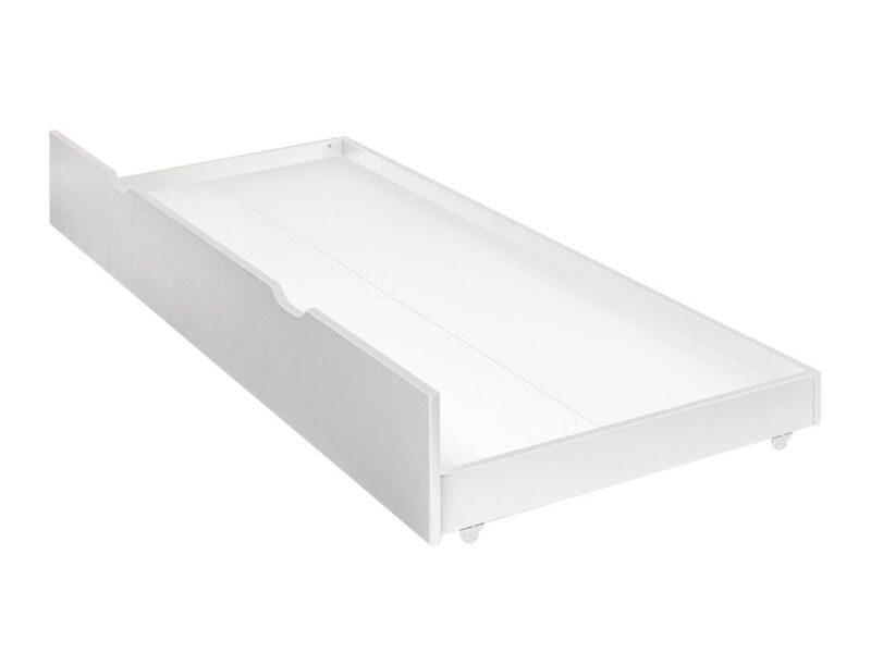 White-painted trundle base