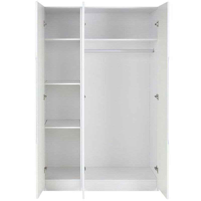 3 door wardrobe with internal shelves