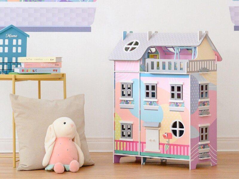 3-tier multi-colour doll's house