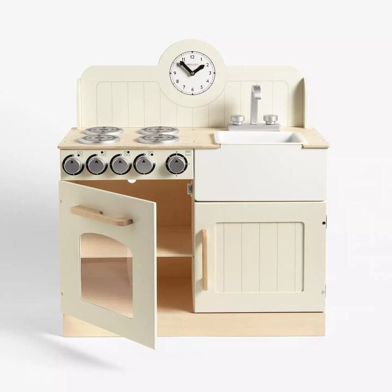 Cream-painted play kitchen