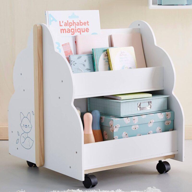Cloud Themed Book Cart