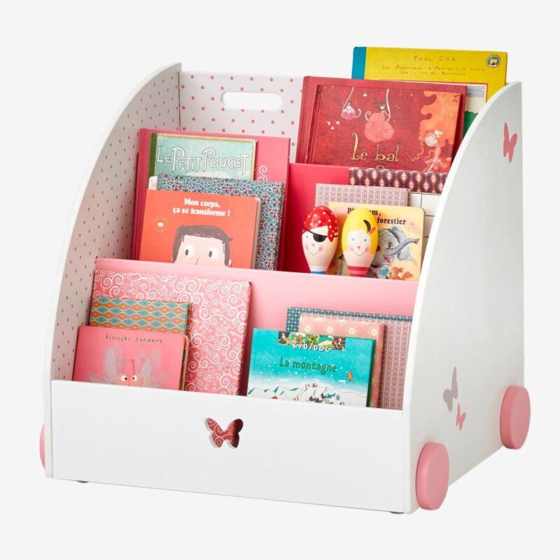 Butterfly-theme book cart