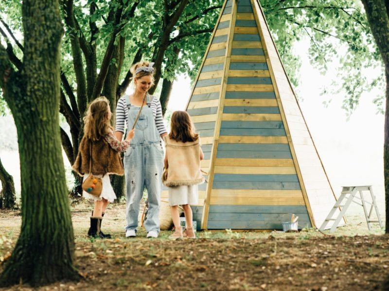 Teepee-style playhouse