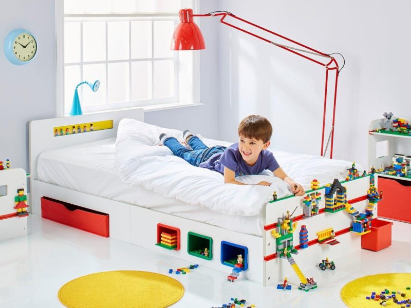 Room 2 Build Kids Single Bed with Storage