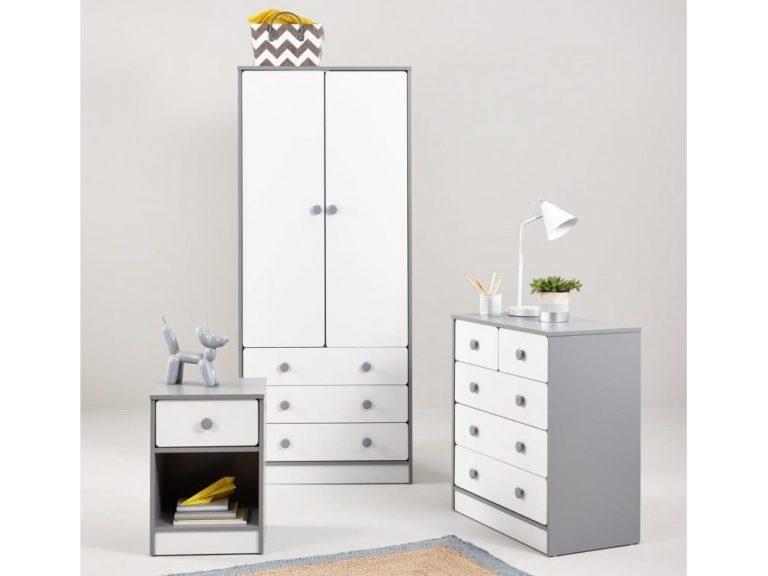 Grey/white bedroom furniture