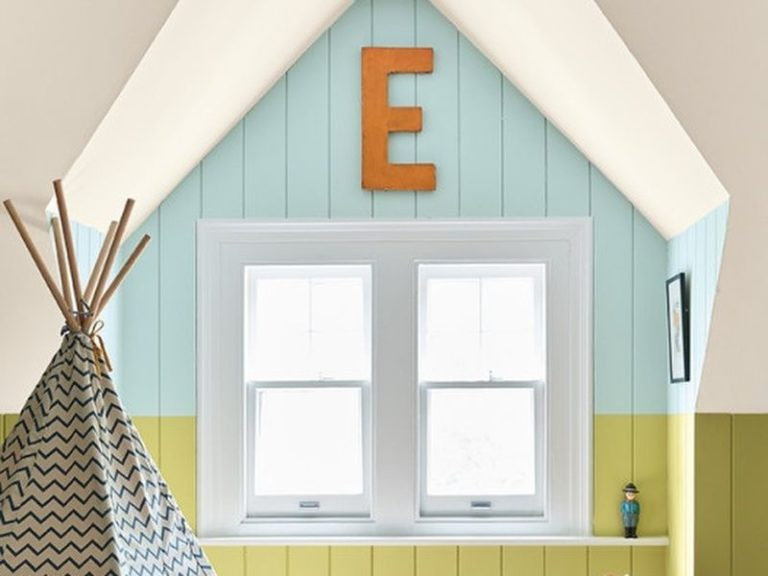 Brightly painted children's bedroom