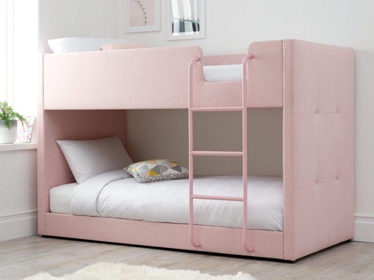 Pink fabric bunk bed
