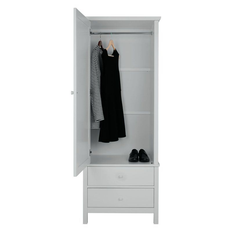 Single wardrobe with 2 drawers