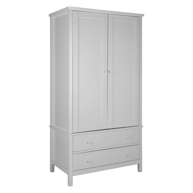 2-door wardrobe with 2 drawers