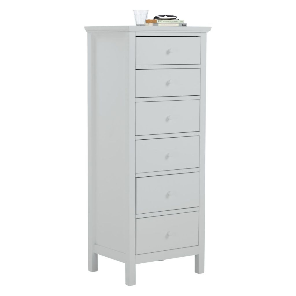 6 drawer chest - grey
