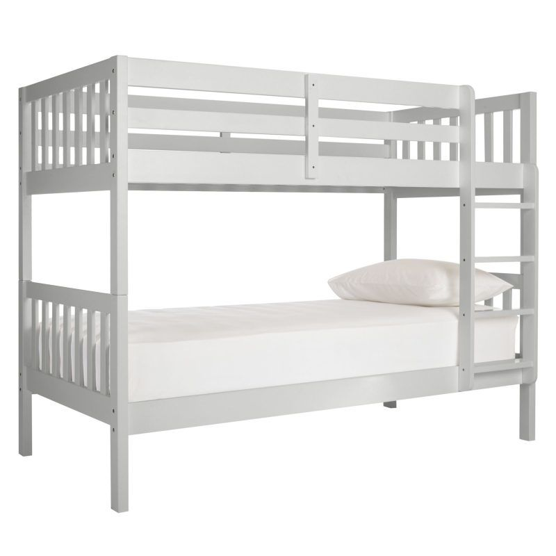 Grey-painted bunk bed