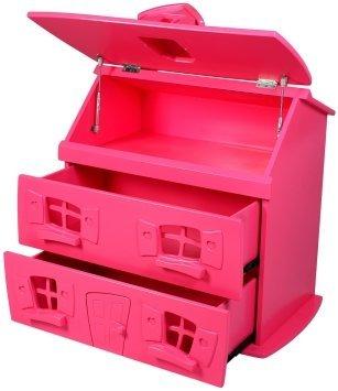 Pink dollhouse dresser