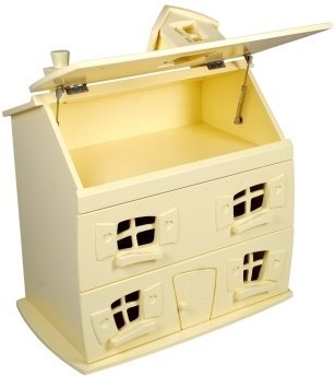 Dollhouse dresser with top open