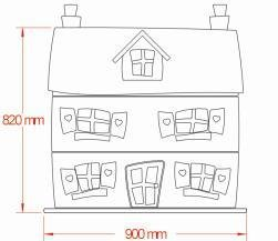 Dollhouse dresser dimensions