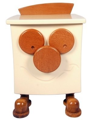 Bedside cabinet with a face