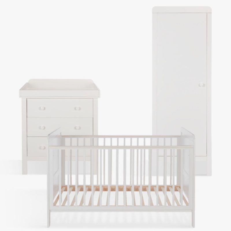 White painted nursery set
