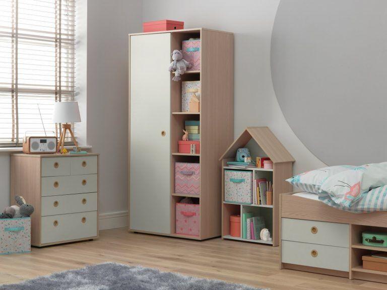 Children's furniture with grey doors