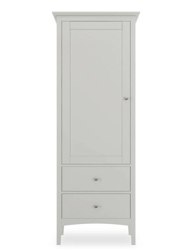 Grey-painted single wardrobe
