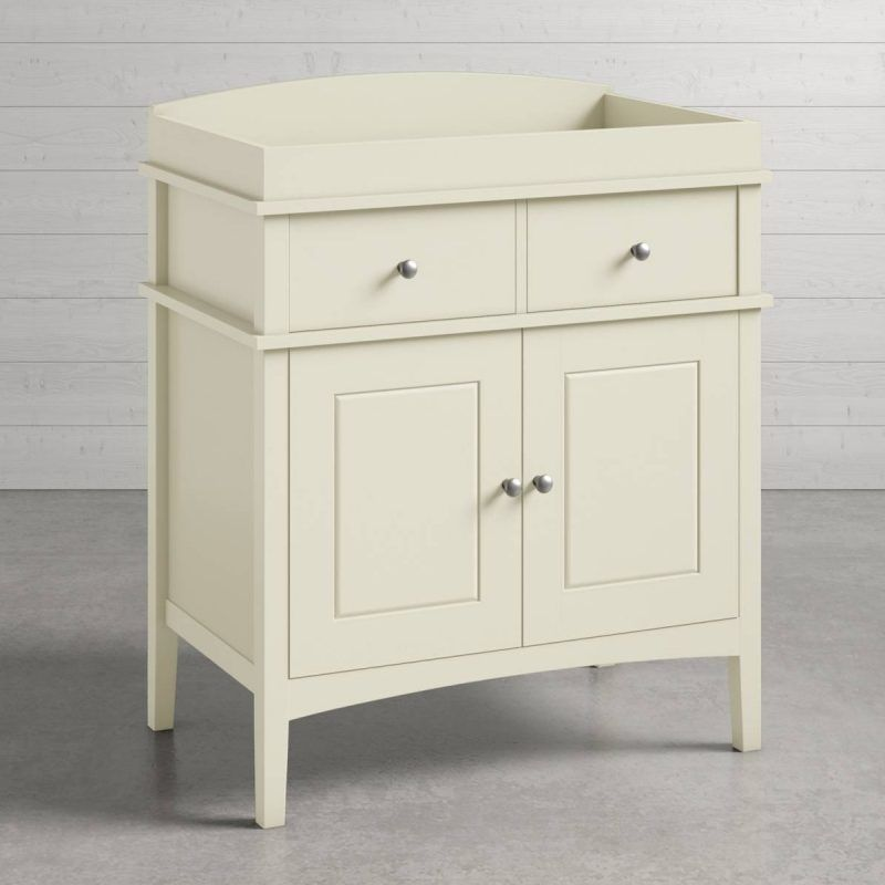 Ivory painted dresser and changing unit