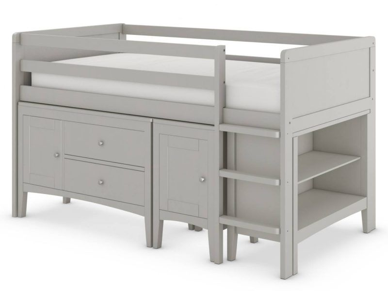 Grey painted cabin bed