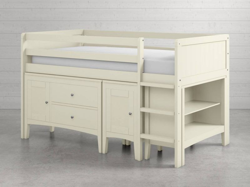 Ivory-painted cabin bed