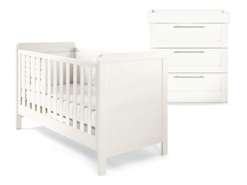 Cot bed and dresser unit
