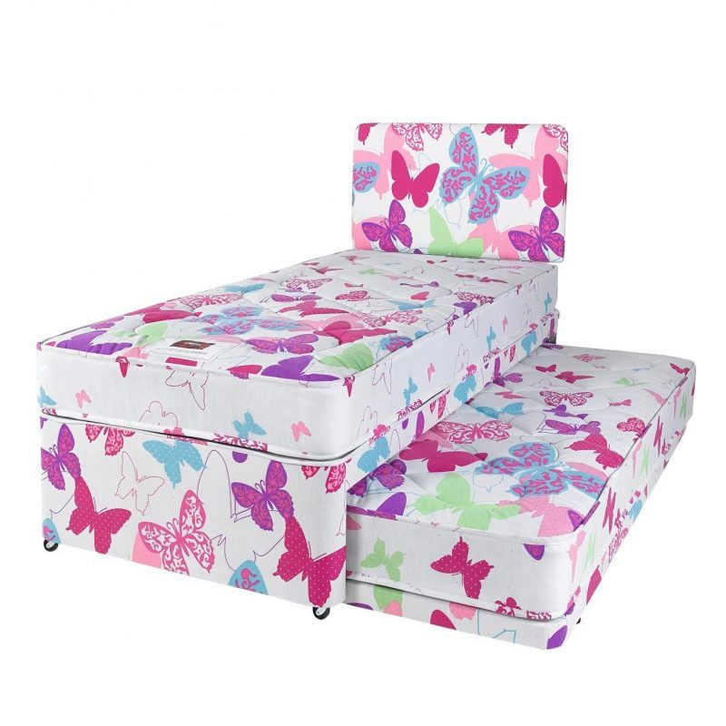 Butterfly single divan with pull-out guest bed