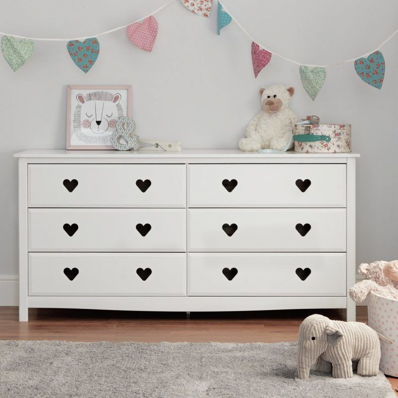 White double drawer chest